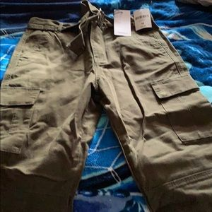 Khaki pants. Olive Green.